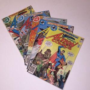SUPERMAN Action Comics #495, 496, 497, 498, 499